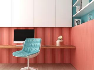Estudio Coral Pragma - Diseño Oficinas y Tiendas Madera Rosa