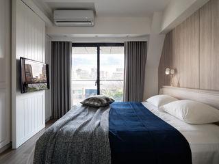 創喜設計 Scandinavian style bedroom Engineered Wood Black