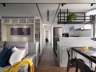 創喜設計 Living room Wood White