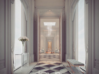 Regal Design Ideas for Palace Hallway IONS DESIGN Classic corridor, hallway & stairs Marble Multicolored
