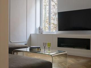 Casa PARIOLI Arabella Rocca Architettura e Design Soggiorno moderno