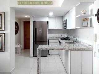 Remodelar Proyectos Integrales Cocinas equipadas Granito Blanco