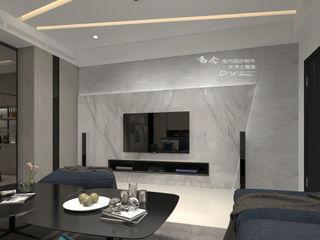 獨立森林 木博士團隊/動念室內設計制作 现代客厅設計點子、靈感 & 圖片 大理石 Grey