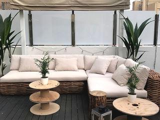 Estudi Aura, decoradores y diseñadores de interiores en Barcelona Garden Furniture Wood Brown