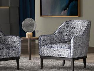 Decordesign Interiores ВітальняТабурети та стільці Текстильна Синій