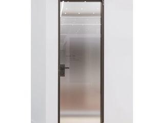 WITHJIS(위드지스) Centros de exposições modernos Alumínio/Zinco Castanho