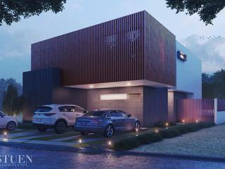 Stuen Arquitectos Rumah Modern Kayu Grey