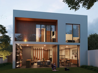 Stuen Arquitectos Rumah tinggal Kayu White
