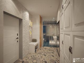 Art-line Design Pasillos, vestíbulos y escaleras de estilo minimalista
