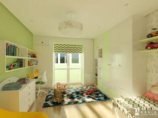 Art-line Design Cuarto para niños Verde