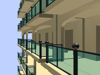 Ing. Edoardo Contrafatto Balcony Aluminium/Zinc Black