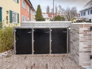 design@garten - Alfred Hart - Design Gartenhaus und Balkonschraenke aus Augsburg Jardin avant Bois composite Noir