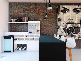 GóMEZ arquitectos Industrial style wine cellar Bricks