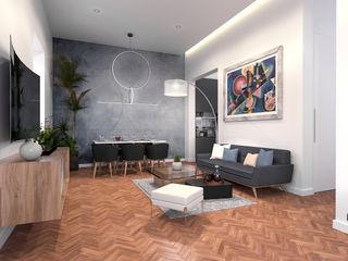 aponto Modern Living Room Solid Wood Wood effect