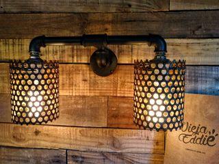 Lampara Vintage De Pared Hierro Chapa Oxido Lamparas Vintage Vieja Eddie LivingsIluminación Hierro/Acero Negro