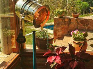 Lampara Tipo Cine Retro Vintage En Ventanal Lamparas Vintage Vieja Eddie Paisajismo de interiores Hierro/Acero Multicolor