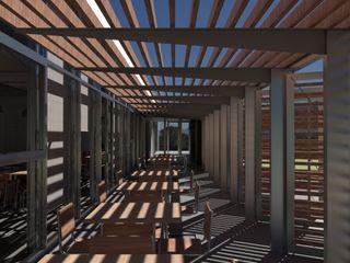 Un bar con consumo energético casi nulo, bajo estándar Passivhaus Divers Arquitectura, especialistas en Passivhaus en Sabadell Bares y clubs de estilo moderno