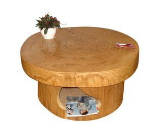 Baumstamm Eiche Holzbau Bohse WohnzimmerCouch- und Beistelltische
