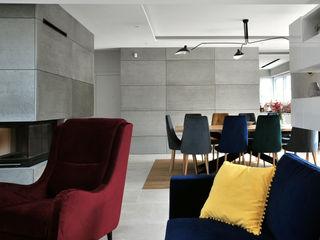 Piotr Stolarek Projektowanie Wnętrz Modern living room Multicolored