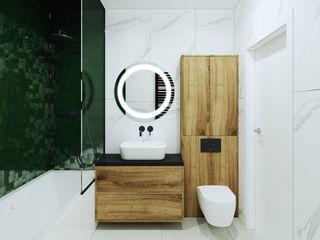 Pracownia Projektowa HybriDesign Adelina Czerbak Baños de estilo moderno
