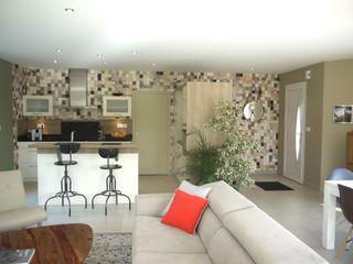 ÉCRIN DE DOUCEUR MIINT - design d'espace & décoration Petites cuisines Multicolore
