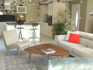 ÉCRIN DE DOUCEUR MIINT - design d'espace & décoration Salon scandinave Vert