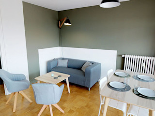 CHIC PARTAGÉ MIINT - design d'espace & décoration Salon moderne Vert
