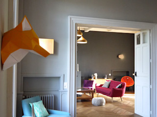 COLORÉ & DÉCALÉ MIINT - design d'espace & décoration Salle à manger originale Gris