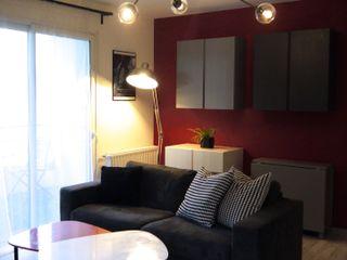 INSPIRATION CINÉMA MIINT - design d'espace & décoration Salon moderne Rouge