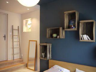 JEUX DE VOLUME MIINT - design d'espace & décoration Chambre originale Bleu