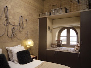 LA MONTAGNE EN VILLE MIINT - design d'espace & décoration Chambre industrielle Beige