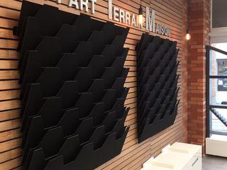 Showroom Les Castors Angevins MIINT - design d'espace & décoration Locaux commerciaux & Magasin industriels Effet bois