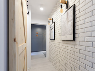 Pasja Do Wnętrz Scandinavian corridor, hallway & stairs