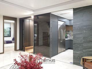 WITHJIS(위드지스) Salas de estar modernas Alumínio/Zinco Cinzento