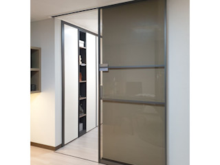 WITHJIS(위드지스) Portas de vidro Alumínio/Zinco Cinzento
