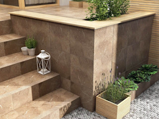 Ceramika Paradyz Klassischer Balkon, Veranda & Terrasse