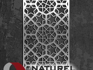 NATUREL METAL FERFORJE Centros comerciales de estilo moderno Metal Metálico/Plateado