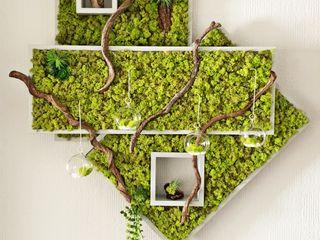 """""""Spring Green"""" DIY creative Ambienteleuchte Viktoria Kalik SchlafzimmerBeleuchtung Holz-Kunststoff-Verbund Grün"""