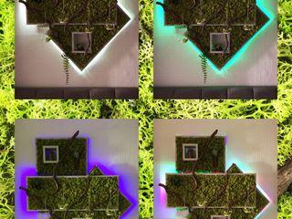 """""""Spring Green"""" DIY creative Ambienteleuchte Viktoria Kalik SchlafzimmerBeleuchtung Holz-Kunststoff-Verbund Mehrfarbig"""