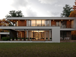 Дом в современном стиле. Vladimir-house 2 Sboev3_Architect Дома с террасами Железобетон Белый