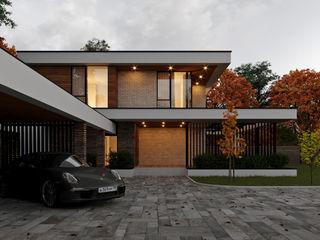 Дом в современном стиле. Vladimir-house 2 Sboev3_Architect Загородные дома Железобетон Белый