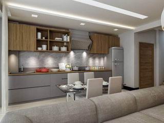 ANTE MİMARLIK Kitchen units Grey