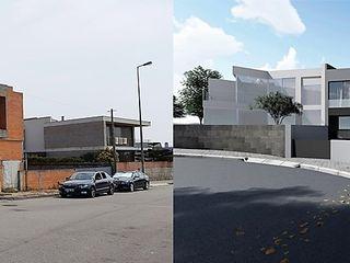 Recuperação e reconstrução de Moradia Unifamilar - Tipologia T4 Esboçosigma, Lda Casas modernas Cinzento