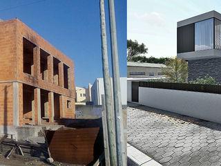 Recuperação e reconstrução de Moradia Unifamilar - Tipologia T4 Esboçosigma, Lda Casas unifamilares Cinzento