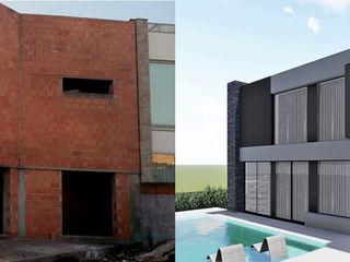 Recuperação e reconstrução de Moradia Unifamilar - Tipologia T4 Esboçosigma, Lda Habitações multifamiliares Cinzento