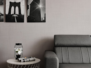 大福空間設計有限公司 Ruang Keluarga Modern