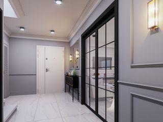 ANTE MİMARLIK Modern corridor, hallway & stairs Grey