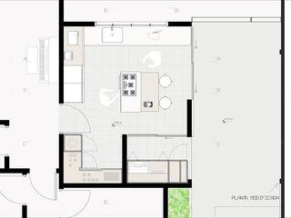 CRIA UM Diade Arquitetos Armários e bancadas de cozinha Cerâmica Branco