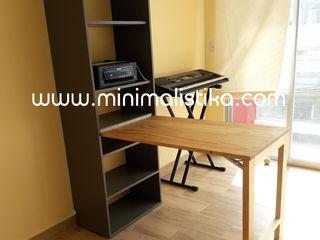 Minimalistika.com 勉強部屋/オフィス机 無垢材 木目調