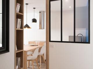 Chez Sophie et Philippe Camille BASSE, Architecte d'intérieur Couloir, entrée, escaliers modernes